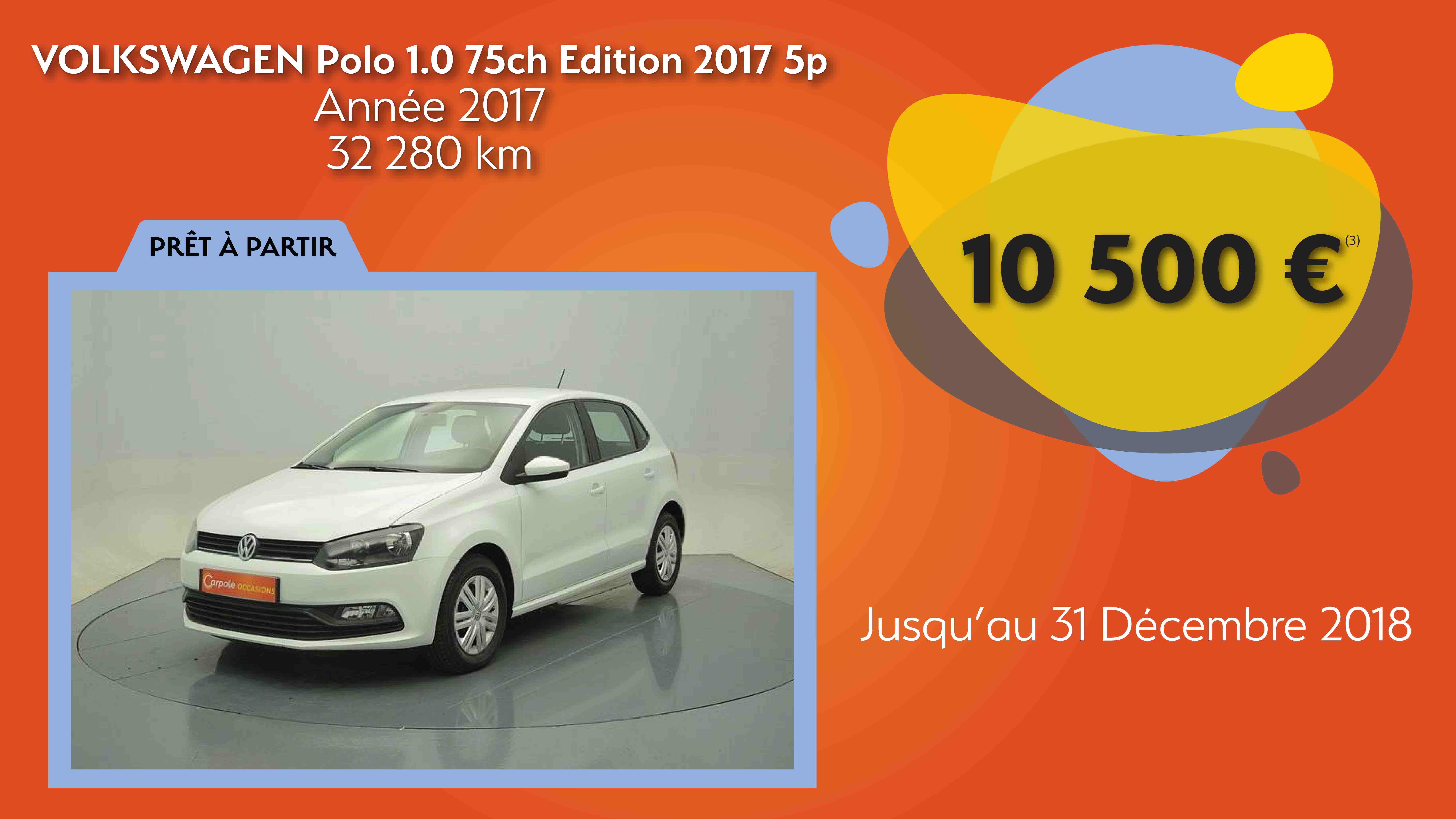 profitez de notre offre sur la volkswagen polo actualit s carpole occasions. Black Bedroom Furniture Sets. Home Design Ideas